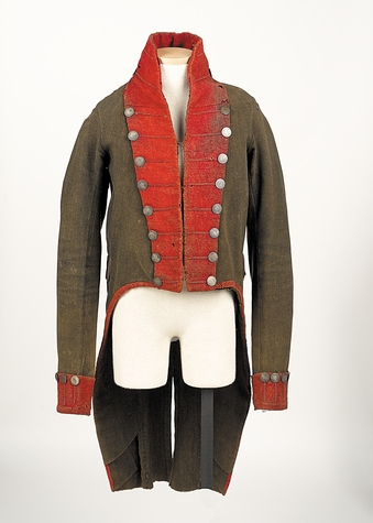 War of 1812 militia officer's coat from the Stanton-Davis Homestead Museum.